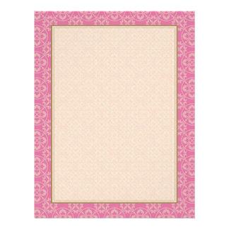Fleur De Lis Pattern in Pink 21.5 Cm X 28 Cm Flyer
