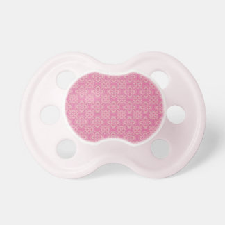 Fleur De Lis Pattern in Pink Pacifiers