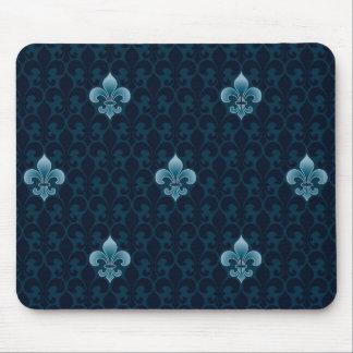 Fleur De Lis Pattern Mouse Mat
