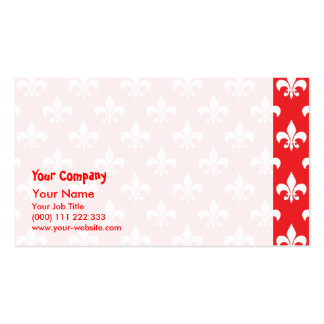Fleur-de-lis pattern on Red Double-Sided Standard Business Cards (Pack Of 100)