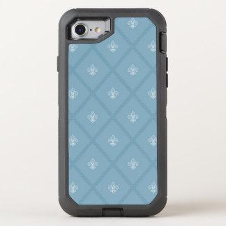 Fleur-de-lis pattern OtterBox defender iPhone 8/7 case