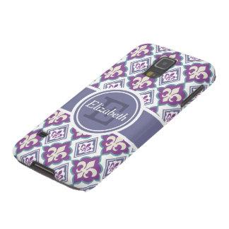 Fleur de Lis Pattern Personalized Monogram Case For Galaxy S5