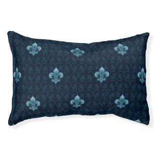 Fleur De Lis Pattern Pet Bed