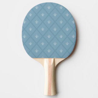 Fleur-de-lis pattern ping pong paddle