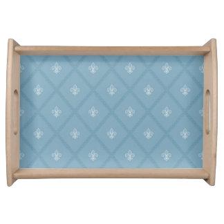 Fleur-de-lis pattern serving tray