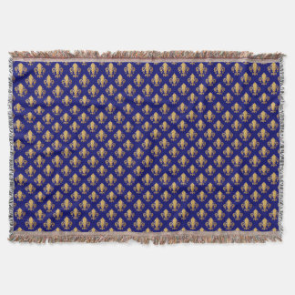 Fleur de lis pattern throw blanket