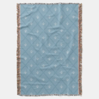 Fleur-de-lis pattern throw blanket