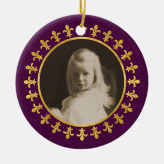 Fleur-de-lis Photo Frame Christmas Ornament