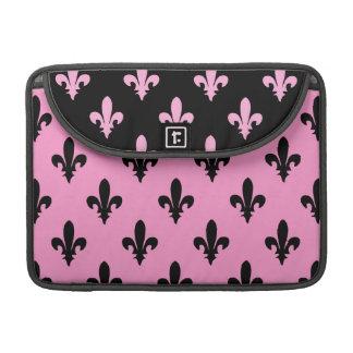 Fleur de lis Pink Rickshaw Macbook Sleeve MacBook Pro Sleeve