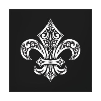 Fleur de Lis Print on Premium Wrapped Canvas 12x12