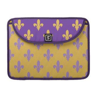 Fleur de lis Purple Gold Rickshaw Macbook Sleeve MacBook Pro Sleeve