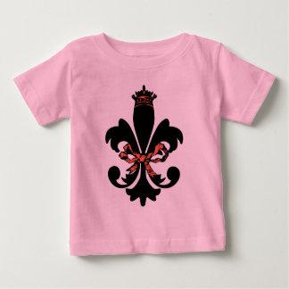 Fleur de lis Queen with bow T-shirts