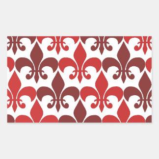 Fleur De Lis Rectangular Sticker