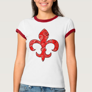 Fleur de lis Red Bandana t-shirt