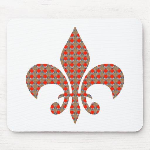 Fleur De Lis : Red Golden Dots ELEGANT gifts ALL Mousepad