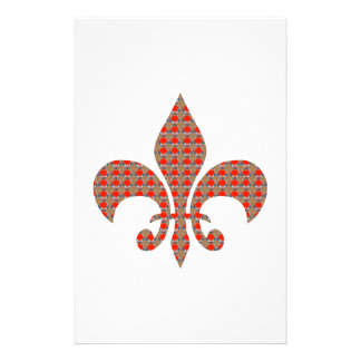 Fleur De Lis : Red Golden Dots ELEGANT gifts ALL Customized Stationery