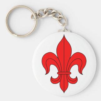Fleur De Lis - Red Key Chain