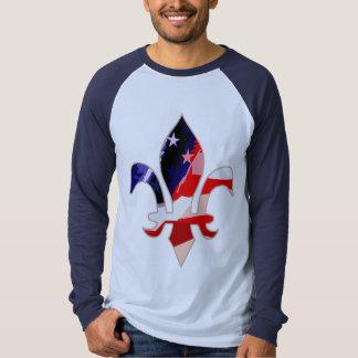 Fleur de lis Red,White,Blue - 1 Tshirts