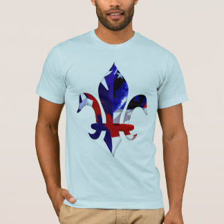 Fleur de lis Red White Blue -2 T-Shirt