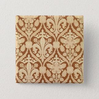 'Fleur-de-Lis', reproduction wallpaper designed by 15 Cm Square Badge