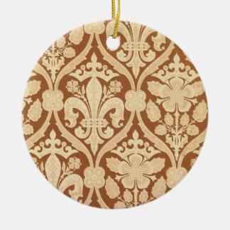 'Fleur-de-Lis', reproduction wallpaper designed by Christmas Ornament