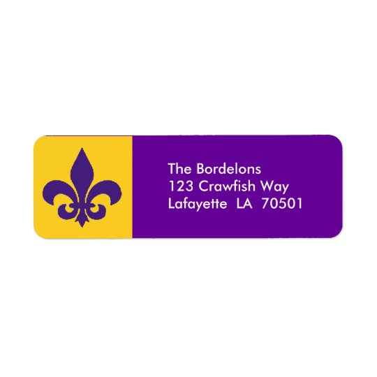Fleur de Lis Return Address Labels