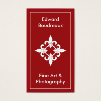 Fleur de Lis Ruby Business Cards