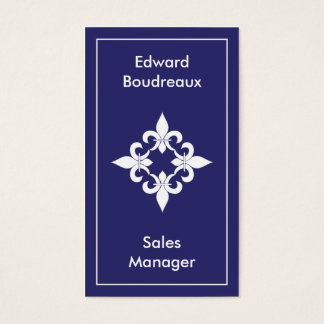 Fleur de Lis Sapphire Business Cards