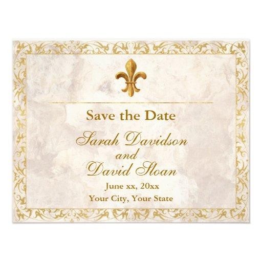 Fleur_de_lis Save the Date Personalized Invite