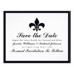 Fleur de Lis Save the Date Personalized Announcements