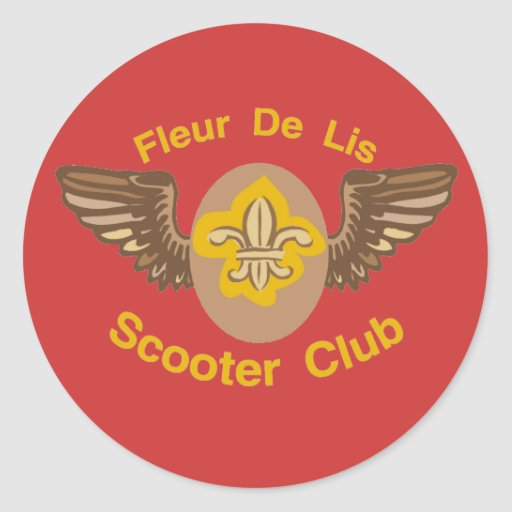 Fleur De Lis Scooter Club Sticker Zazzle
