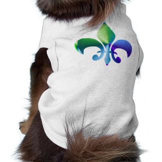 Fleur-de-Lis:  Signature Patterns by Naveen Sleeveless Dog Shirt