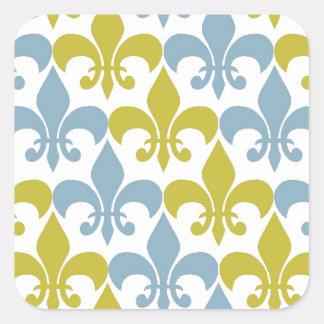Fleur De Lis Square Sticker