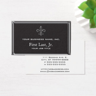 Fleur De Lis - Stripey 3D Style Business Card