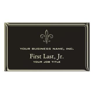 Fleur De Lis - Stripey 3D Style Pack Of Standard Business Cards
