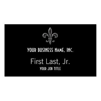Fleur De Lis - Stripey Business Cards
