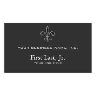 Fleur De Lis - Stripey Double-Sided Standard Business Cards (Pack Of 100)