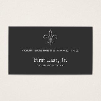 Fleur De Lis - Stripey Business Card