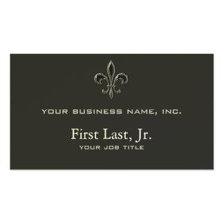 Fleur De Lis - Stripey Business Card Template