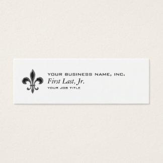 Fleur De Lis - Stripey Mini Business Card