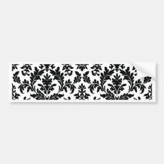 fleur de lis style print bumper sticker