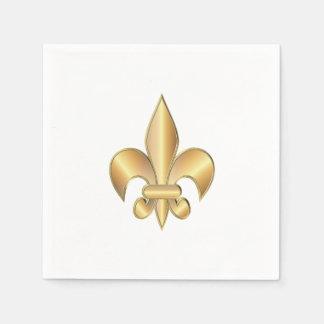 Fleur de Lis symbol Disposable Serviette