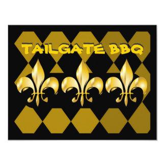 Fleur de Lis, tailgate bar b q 11 Cm X 14 Cm Invitation Card