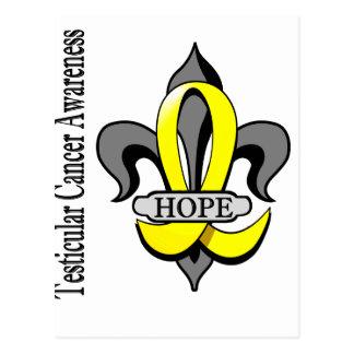 Fleur De Lis Testicular Cancer Hope Postcard