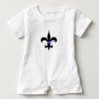 Fleur De Lis Thin Blue Line Saints Romper Baby Bodysuit