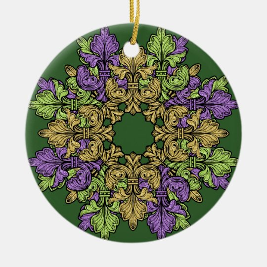 Fleur de lis Three Christmas Ornament | Zazzle.co.uk