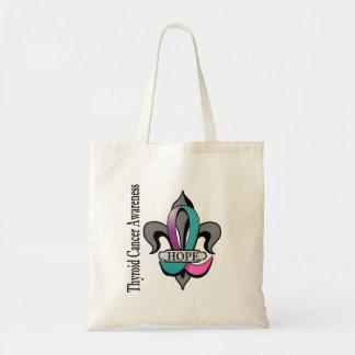 Fleur De Lis Thyroid Cancer Hope Budget Tote Bag