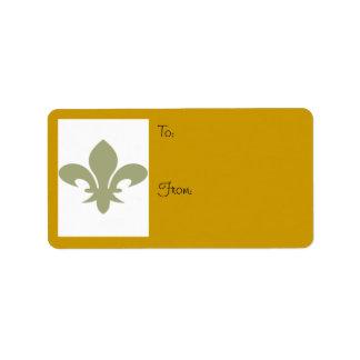 Fleur de Lis To/From Label