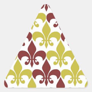 Fleur De Lis Triangle Sticker