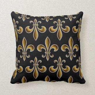 Fleur De Lis Wallpapered Cushion